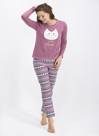Arnetta Pijama Takım Mürdüm